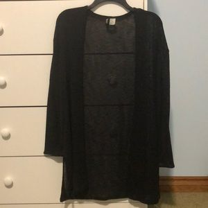 Sheer, light weight, long cardigan from HM
